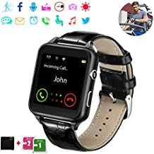 Smart Watch,Bluetooth Smart Watch,Touch Screen Watch,Multi-Function Watch,Sport Smart Watch with SIM Card for Man Woman Child,Support Message, Pedometers, Sleep Monitoring, etc. Support iOS, Android