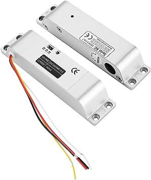 Tosuny Cerradura electromagnética , DC12V 1000KG Cerradura eléctrica para Puertas correderas Puerta de Entrada Control de Acceso Cerradura de aleación de Aluminio Estructura del Cuerpo Cilindro: Amazon.es: Electrónica