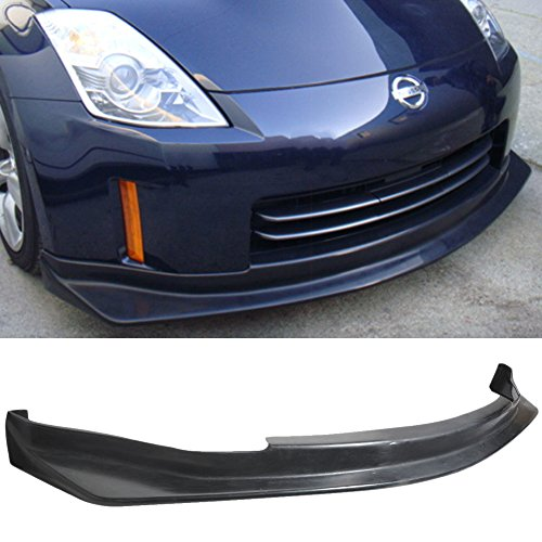 Front Style Jdm Lip (Front Bumper Lip Fits 2006-2009 Nissan 350Z | JDM N-Style Black PU Front Lip Finisher Under Chin Spoiler Add On by IKON MOTORSPORTS | 2007 2008)
