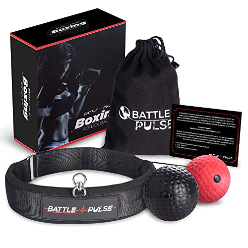 BattlePulse Reflex Ball | Premium Multilayer Soft Headband Boxing Ball | Reflex Speed Ball with 2 Difficulty Level Punching Ball | 360-Degree Buckle | Hand Eye Coordination Training Headset
