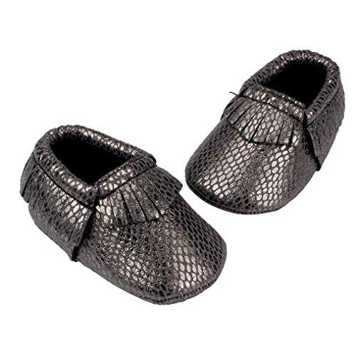 UPC 643070395838, Voberry® Infant Baby Bling Moccasins Soft Sole Anti-Slip Tassels Prewalker Toddler Shoes (0~6 Month, black)
