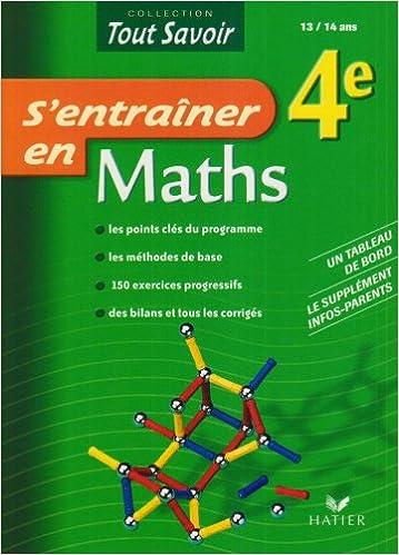 Epub ebooks à télécharger S'entraîner en Maths 4e 2218925192 PDF by Pierre Jauffret