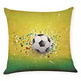 Dacawin HOT {World Cup Pillow Covers 2018}Home Decor Cushion Cover Football Soccer Throw Pillowcase (MulticolorC, 45 45cm)