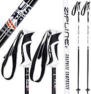 Ski Poles Carbon Composite Graphite - Zipline Lollipop U.S. Ski Team Official Ski Pole - Choose from Colors an