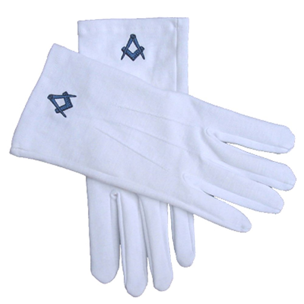 Clermont Direct 100% Cotton Masonic White Gloves