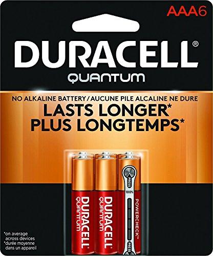 Alkaline 2 Batteries Aaa (Duracell Quantum Alkaline AAA Batteries, 6-Count, 2 Pack)