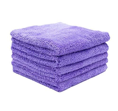 THE RAG COMPANY (5-Pack) Eagle EDGELESS 350 Professional Korean 70/30 Super Plush 350gsm Microfiber Detailing Towels (16x16, Lavender)