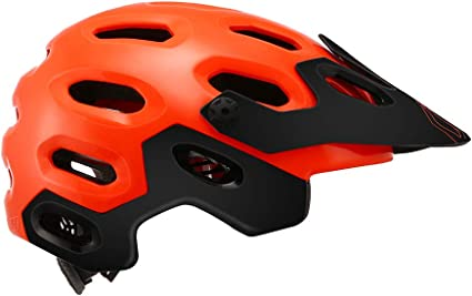 Cairbull Supercross Casque De V/élo Super L/éger 54-58cmCasque de Cyclisme Casque de v/élo de Montagne Mat Noir Brillant Orange