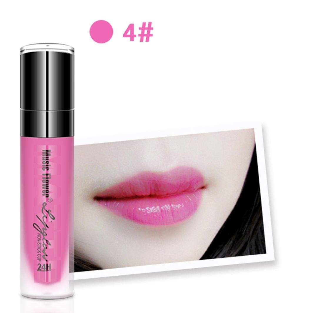 Waterproof Long Lasting Liquid Lipstick Mingfa Women Sexy Shiny Moisturizing Lip Gloss Beauty Makeup Lip Liner (D) Mingfa.y