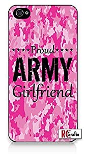 The Best Pink Camo Military Army Girlfriend Camouflage Direct UV Printed iPhone 4 Quality Hard Snap On Case for iPhone 4 4S 4G - AT&T Sprint Verizon - Black Frame by heywan