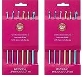 Boye 6281 6-Piece Aluminum Crochet Bonus Hook Set, Size Ranges E-J (2 Pack)