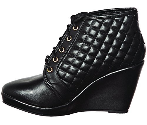up 01 Sneakers Fashion Lace shoewhatever Black Hi Wedge Top Women's Pl wnwqO8Yf