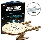 Star Trek The Next Generation: U.S.S. Enterprise Book and 3D Wood Model Kit - Build, Paint and Collect Your Own Wooden Model - Great For Kids and Adults, 12+ - 9''