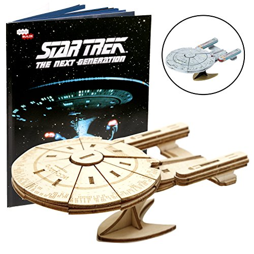 (IncrediBuilds Star Trek The Next Generation: U.S.S. Enterprise Book and 3D Wood Model Kit - Build, Paint and Collect Your Own Wooden Model - Great for Kids and Adults, 10+ - 5