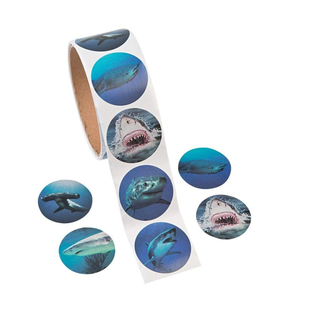Photo Realistic Shark Stickers - 100 Stickers Per Roll, Shrink-wrapped Fun Express 4336984728
