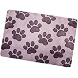 Home Garden Puppy Paws Decorative Floor Mat Colorful Puppy Dog Kitty Cat Collage Doormat