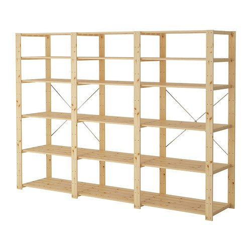 Ikea 3 sections/shelves, softwood 20202.11514.234