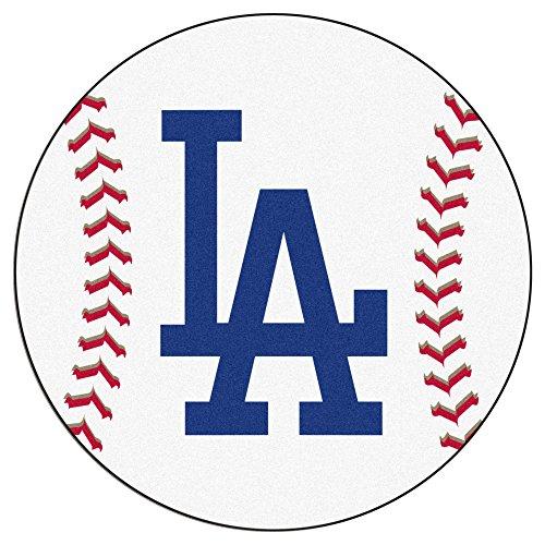 FANMATS 20333 MLB - Los Angeles Dodgers 'LA' Baseball Mat, Team Color, 27