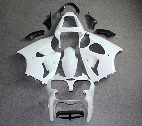 Yoli Unpainted Drilled ABS Bodywork Fairings for KAWASAKI Unpainted Drilled ABS Bodywork Fairing for KAWASAKI 636 ZX6R 00-02/ZZR600 05-08