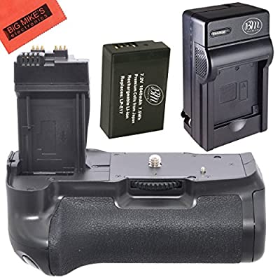 Battery Grip Kit for Canon EOS 1100D, EOS Rebel T6i, Rebel T6s, EOS 750D, EOS 760D, EOS 8000D, KISS X8i Digital SLR (BG-E18 Replacement)-Includes Battery Grip + 1 LP-E17 Battery + Battery Charger