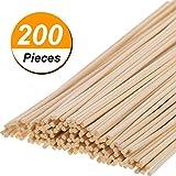Hicarer 200 Pack Rattan Diffuser Sticks Wood Diffuser Sticks Refills Essential Oil Aroma Diffuser Replacement Sticks 24 cm/9.45 Inch