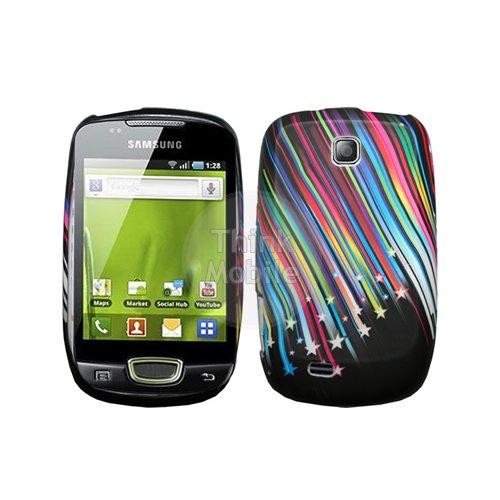 Morado Flora Gel Funda Case Para Samsung Galaxy Mini S5570 Estrellas fugaces