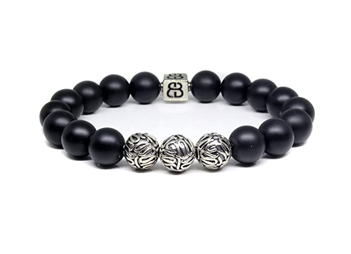 boybeads men guys made bead bracelet or beaded s boys matte necklace custom for joe black stone onyx mens