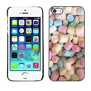 For Apple iPhone 5 / iPhone 5S Case , Colors Candy Sweets - Diseño Patrón Teléfono Caso Cubierta Case Bumper Duro Protección Case Cover Funda