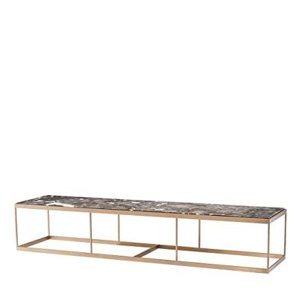 Marble Top Brass Coffee Table.Amazon Com Marble Top Brass Frame Coffee Table Eichholtz La
