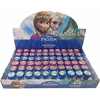 Disney Frozen Anna Elsa Olaf 30x Stampers Self Inking Birthday Party Favors