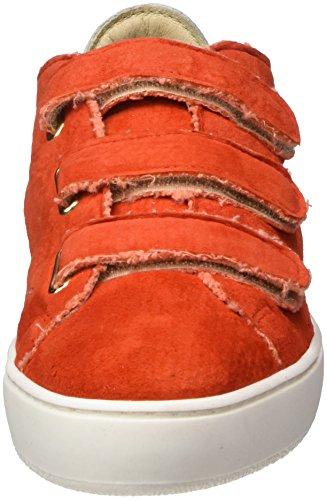 Manas Rhodes Sneaker Rot Damen (brun + Corail Rouge + 010)