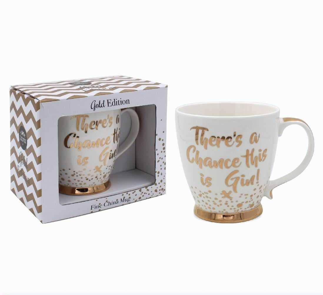 Theres a chance this is gin Fine China Mug Gold Edition