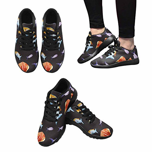 Interestprint Poissons Femmes Jogging Running Sneaker Léger Aller Facile Chaussures De Marche Multi 1