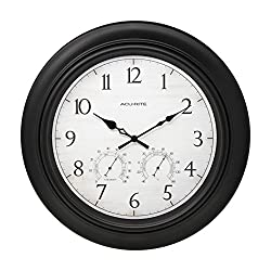 AcuRite 76091HD 18-Inch Outdoor Wall Clock
