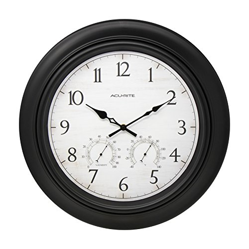 - AcuRite 76091HD 18-inch Outdoor Wall Clock