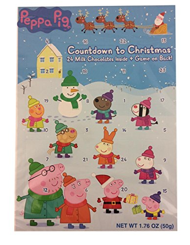 Peppa Pig Kids Advent Milk Chocolate Count Down