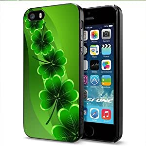 The Irish Shamrock for St. Patrick's Day Apple Smartphone iPhone 5 5S Case Cover Collector Black Hard Cases
