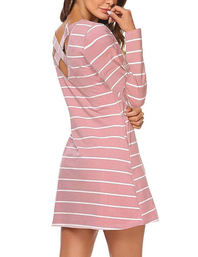 3f977390b2fc0b Striped Shirt Dress With Pockets
