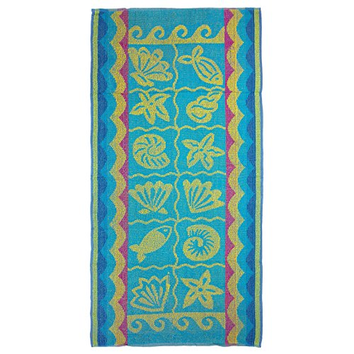 Terry Beach Towel - seashells