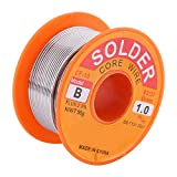 63/37 Rosin Core Solder Wire Flux 2% Tin Lead Solder Iron Welding Wire Reel 0.6/0.8/1.0mm 50g for Electrical Soldering and DIY(1.0mm 50g)