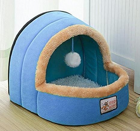 Xinjiener - Caseta para Gato y Mascota, Color Azul: Amazon.es: Productos para mascotas