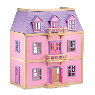 Melissa Doug Multi-level Wooden Dollhouse by Melissa And Doug