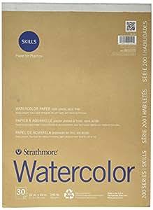 Strathmore 200 Skills Watercolor 11X15 Pad- 30 Sheets