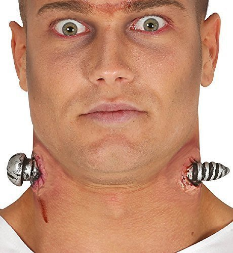 Ladies Mens Halloween Frankenstein Neck Bolts Bloody Zombie Special Effects Latex Make Up Fancy Dress Costume Outfit Kit (Neck Bolts) -