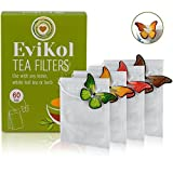 Evikol Empty Filter Tea Bags, Disposable Teabags for Herbs Loose Tea 3.54 x 2.75 inch (7 x 9 cm)