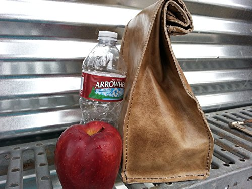 Leather Paper Bag Lunch Sack