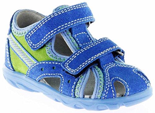 Richter Kinder Lauflerner-Sandalen Blau Velourleder Jungen Schuhe 2114-141-6911 Terrino Blau