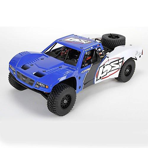 Losi Throttle (Team Losi Baja Rey:1/10-Scale AVC RTR 4WD Trophy Truck(Blue))