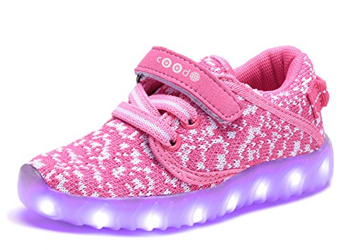 coodo-cd2010-7-color-lights-usb-charging-little-boys-girls-led-shoes-light-up-sneakers-fuschia-white