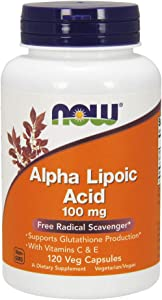 Now Supplements, Alpha Lipoic Acid 100 mg with Vitamins C & E, 120 Veg Capsules
